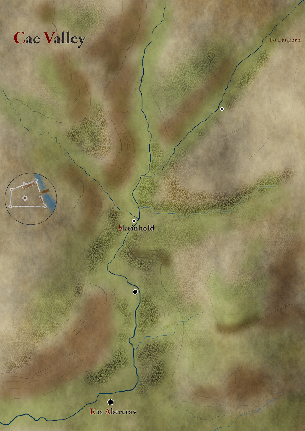 Cae Valley Map