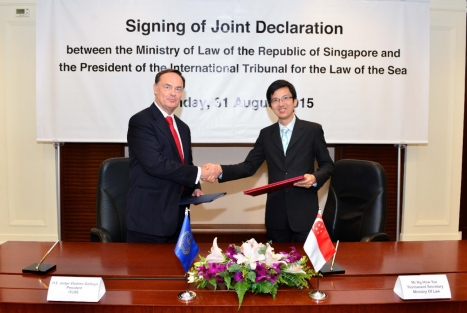MinLaw-ITLOS joint declaration signing ceremony