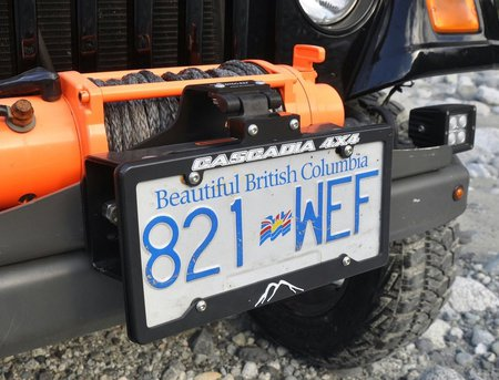 aluminum winch license plate mount by flipster