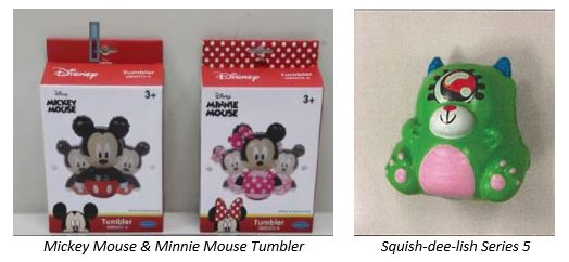 Toys R Us Squish-dee-lish Series 5 and Mickey Mouse & Minnie Mouse Tumbler
