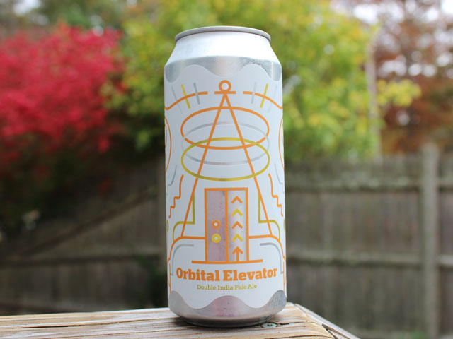 Orbital Elevator, a Double India Pale Ale brewed by Burlington Beer Company