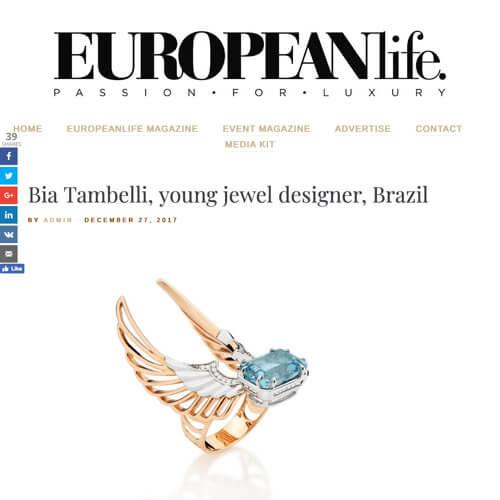 Bia Tambelli, young jewel designer, Brazil
