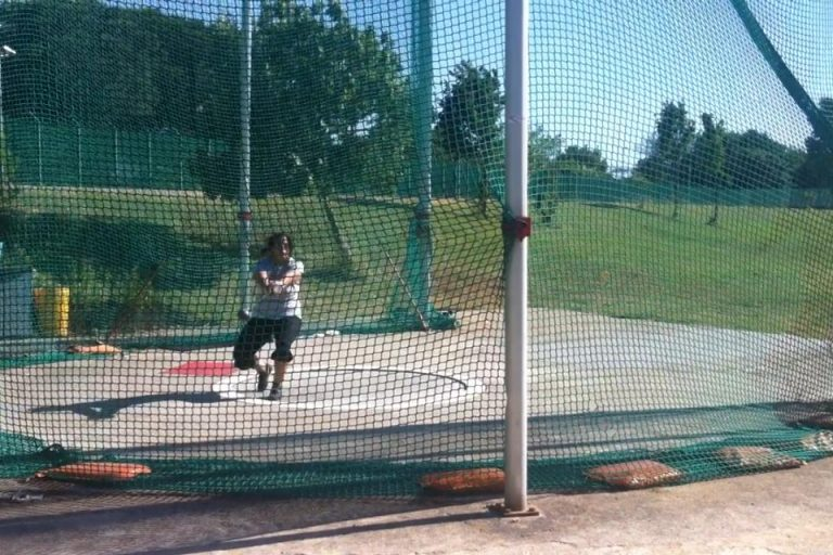 Victoria Practicing Hammer Throw