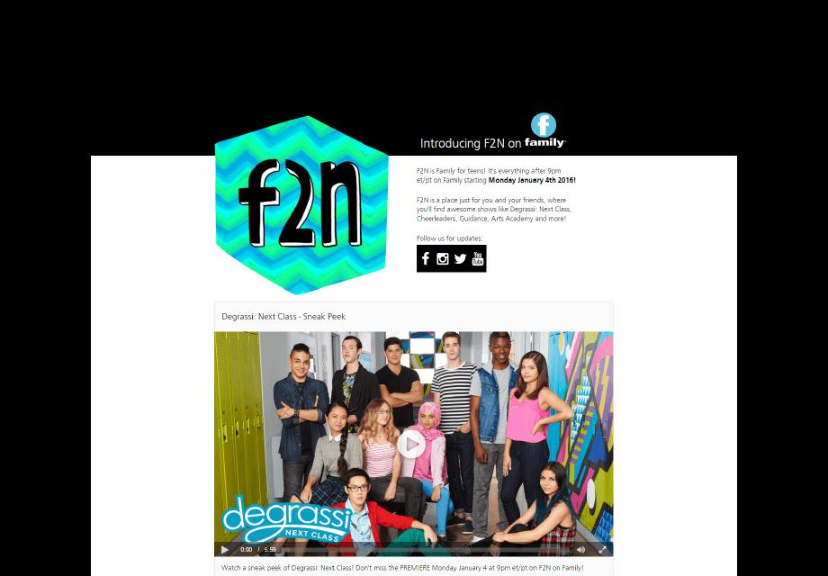 F2N Landing Page