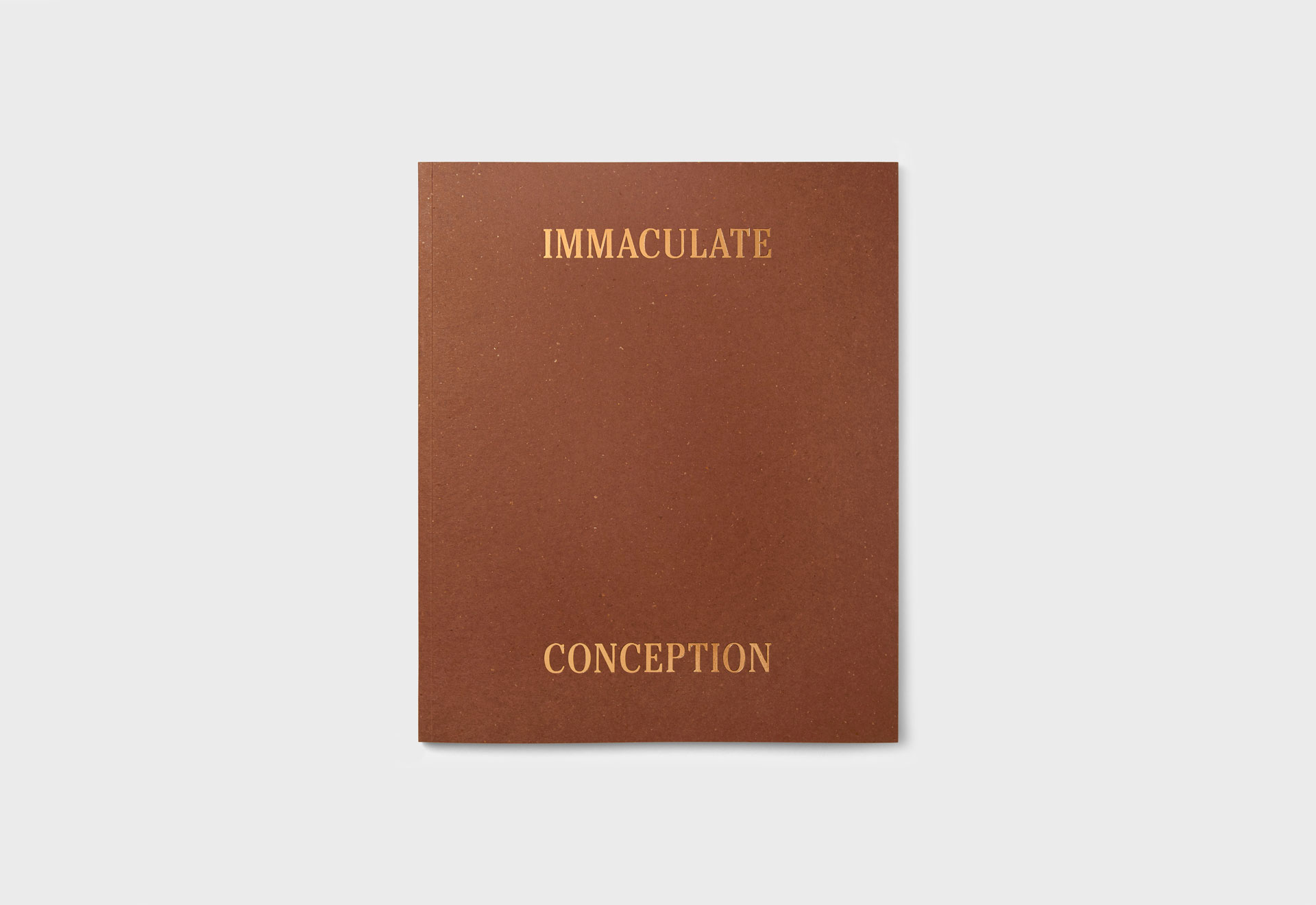 Immaculate Conception exhibition catalogue designed by She Was Only