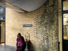 Ahh, the immortal Platform 9¾. Wish we had had time for a proper portrait there, but the line (ahem … queue) was much too long.