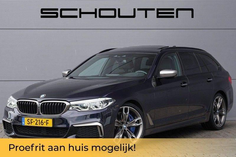 """BMW 5 Serie M550d X-Drive M-Pakket Shadow B&W Camera 360° Massage 20"""" afbeelding 1"""