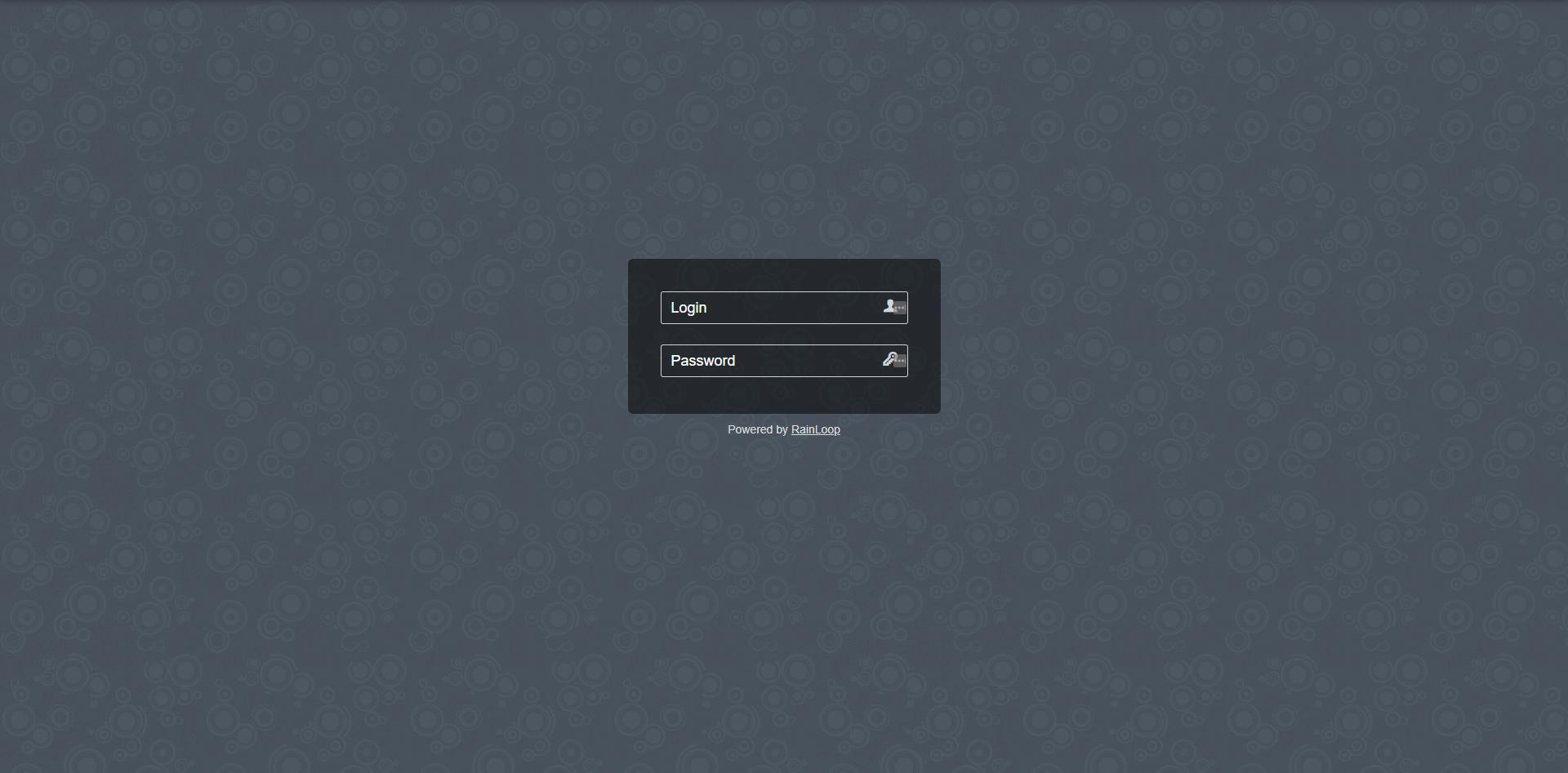 RainLoop Admin Login Page