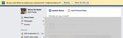 Mitro Facebook login
