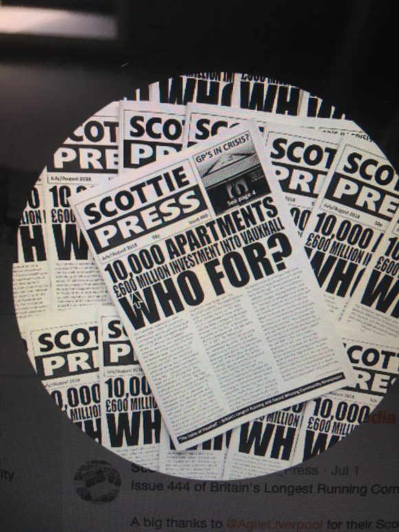 SCOTTIE PRESS - BRITAINS LONGEST RUNNING COMMUNITY NEWSPAPER follows the Story of Save Waterloo Dock. scottiepressarchive.org.uk