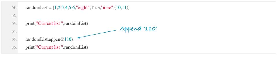 python append element to list