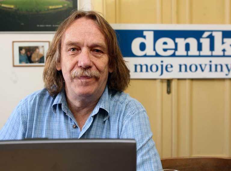 Jarek Nohavica v redakcii novín Moravskoslezský deník