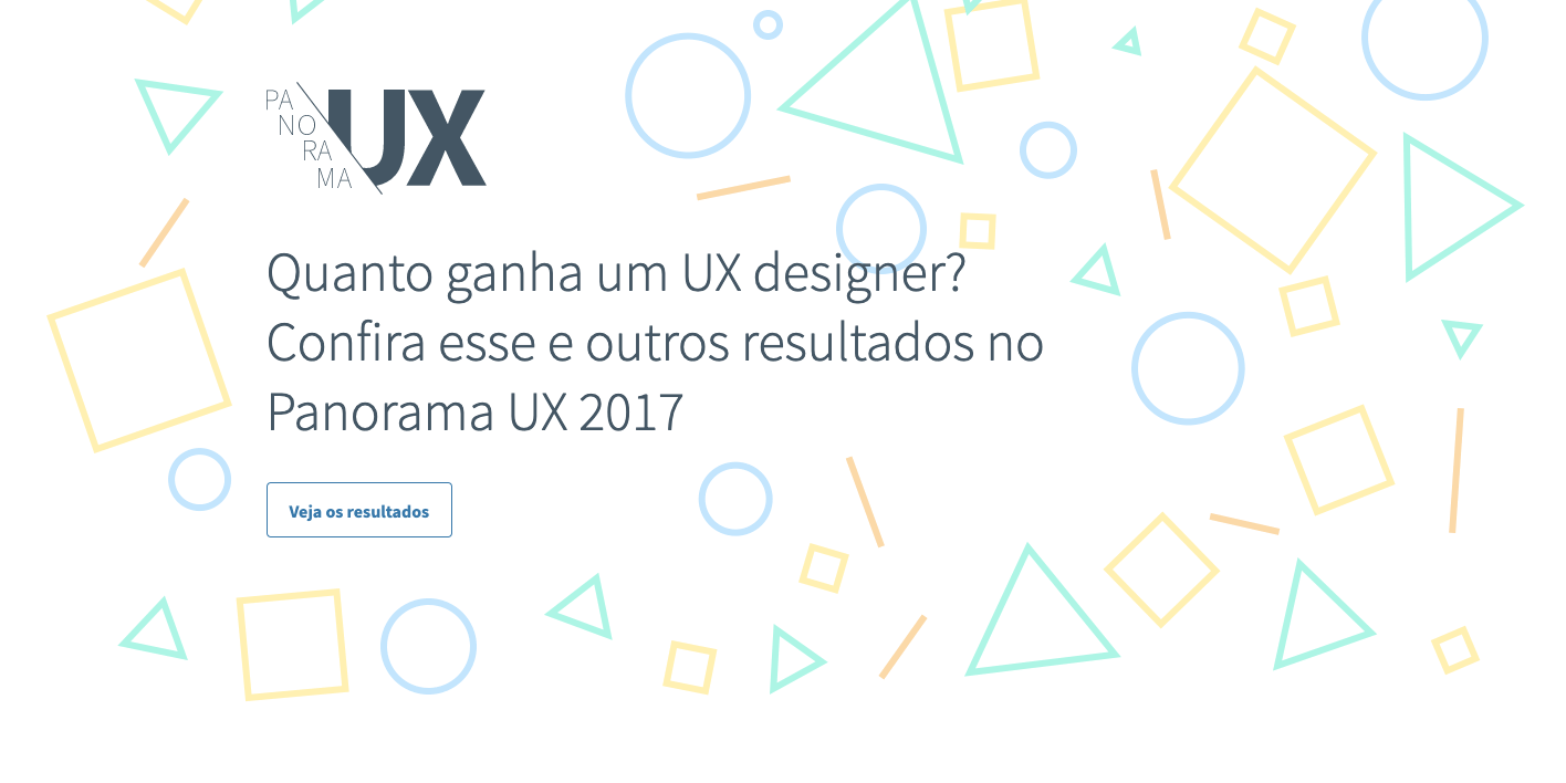 Seção de introdução do site Panorama UX 2017