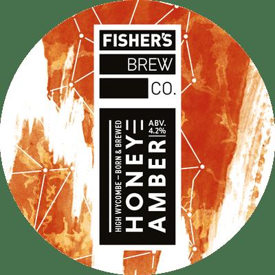 Fisher's Honey Amber keg badge