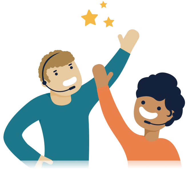 Illustration of two people high fiving