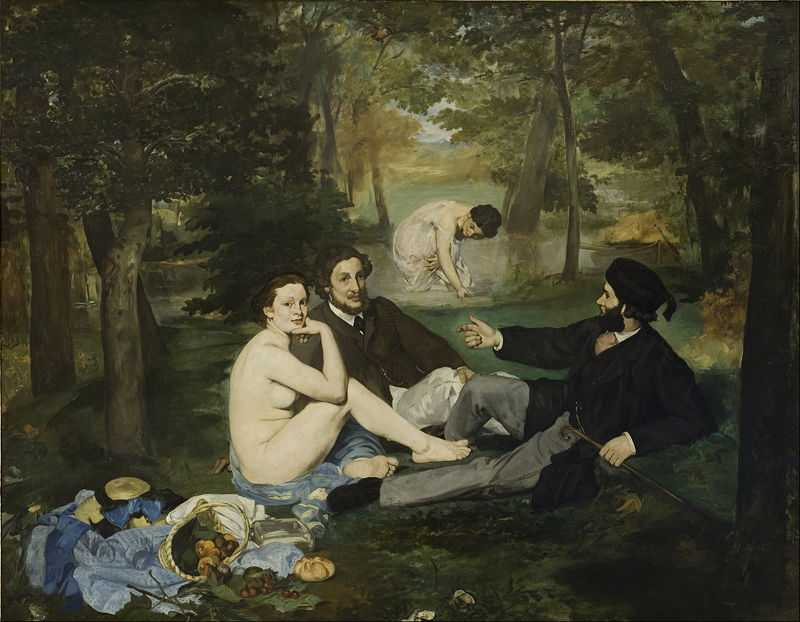 'The Luncheon on the Grass (Le déjeuner sur l'herbe)' by Edouard Manet, 1863