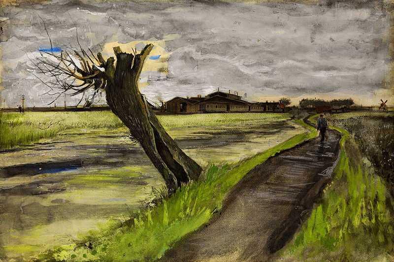 Knotwilg by Vincent Van Gogh, 1882, Van Gogh Museum Amsterdam
