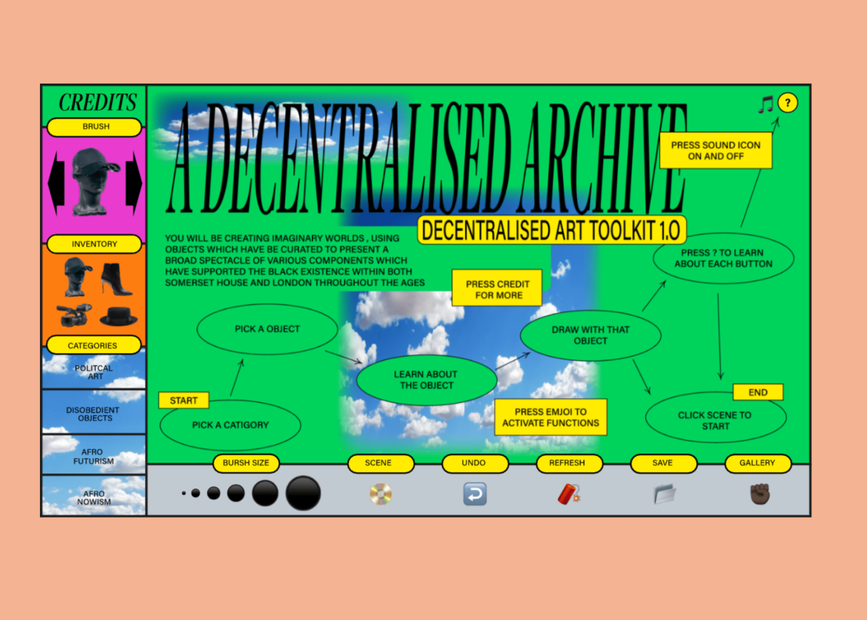 Decentralized, an interactive art project on Black British history & culture