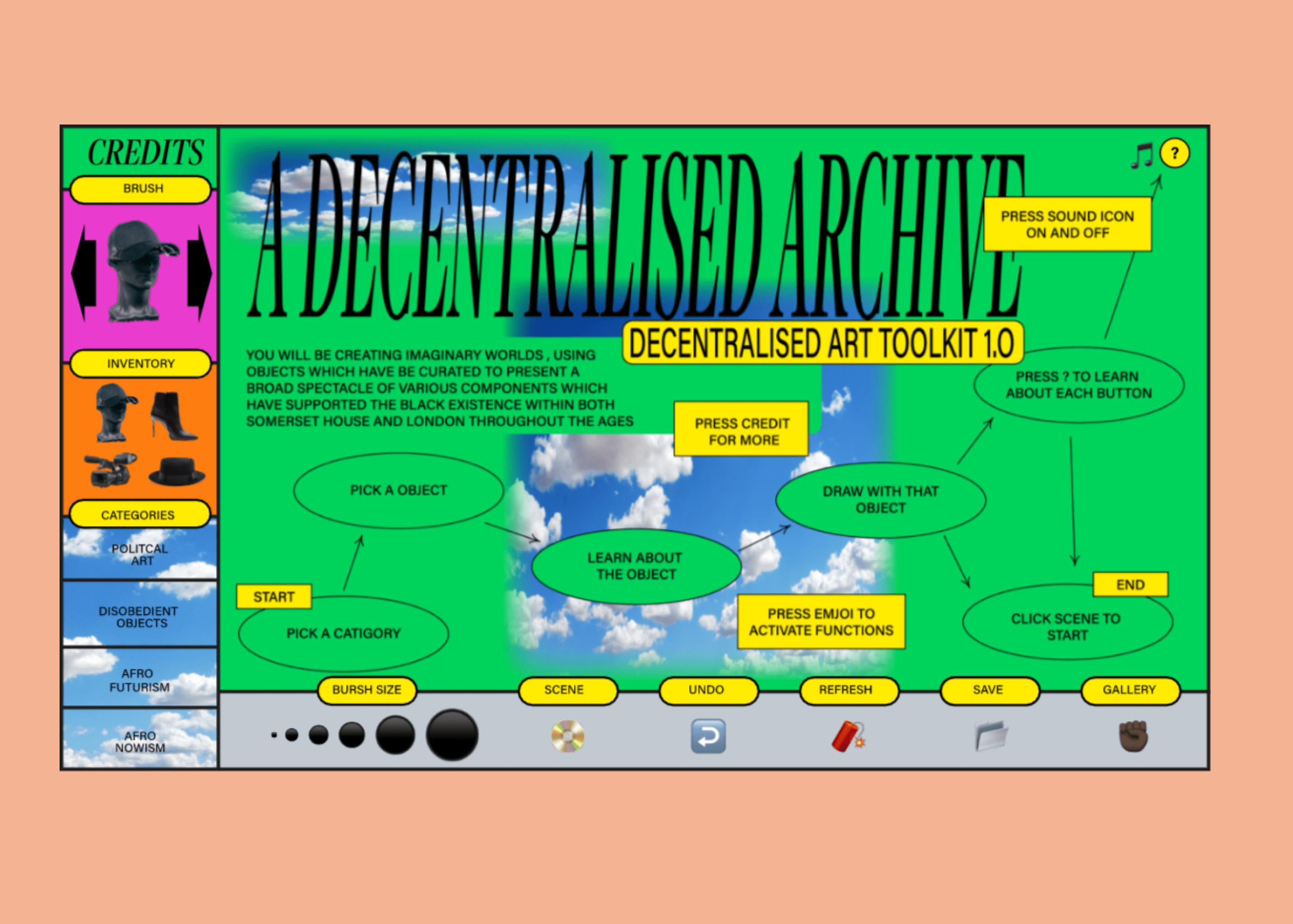 Decentralise, an interactive digital platform on Black British history & culture