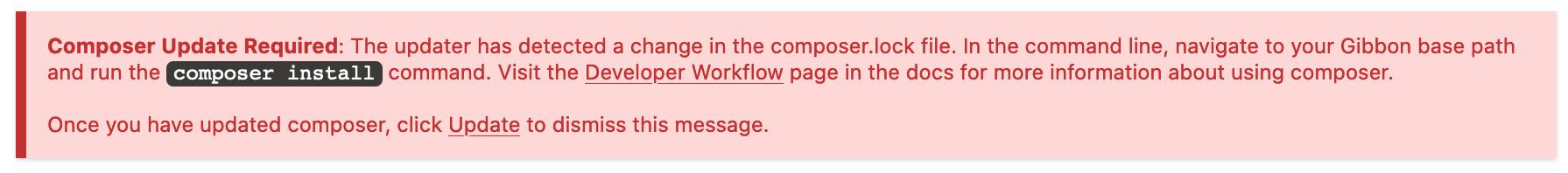 Composer Update
