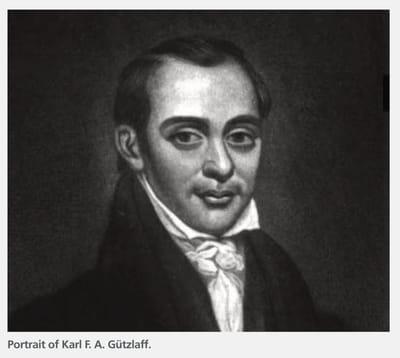 A portrait of Karl F. A. Gützlaff