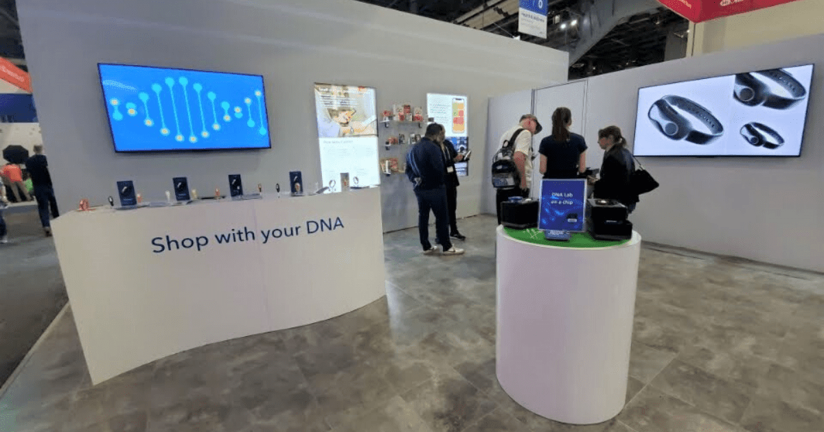 dnanudge display at the 2019 Consumer Electronics Show