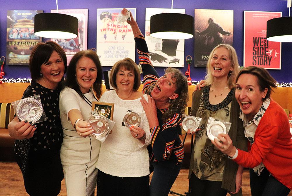 Ladies team celebrating