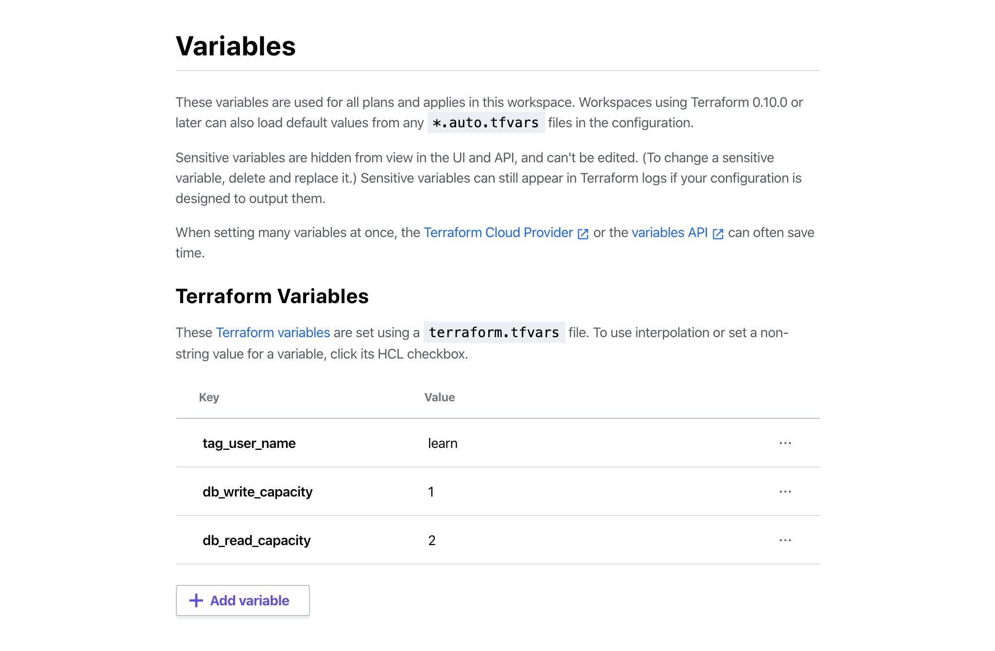 Terraform Variables