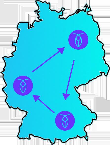 Quarano multi-region deployment of CockroachDB in Germany