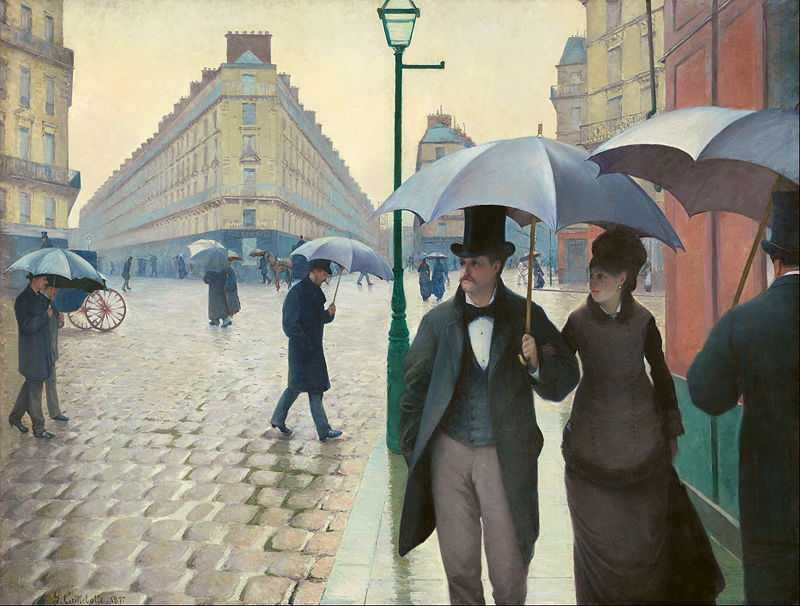 'Paris Street in Rainy Weather' by Gustave Caillebotte (1848–1894) in 1877, oil on canvas