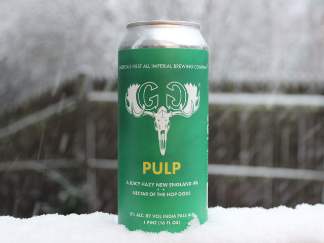 Pulp, a New England IPA brewed by Greater Good Imperial Brewing Company