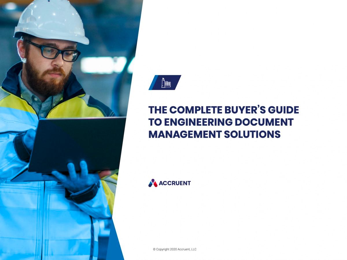 Accruent - Resources - eBooks - The Complete Buyer's Guide to Engineering Document Management Solutions - Cover Image