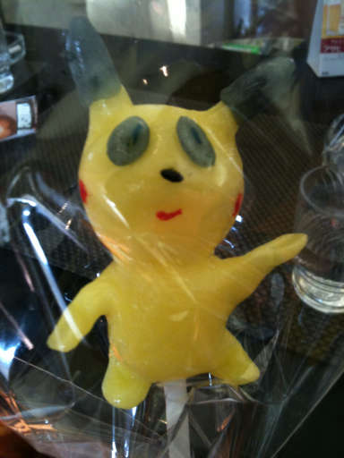 黄色い飴細工の写真
