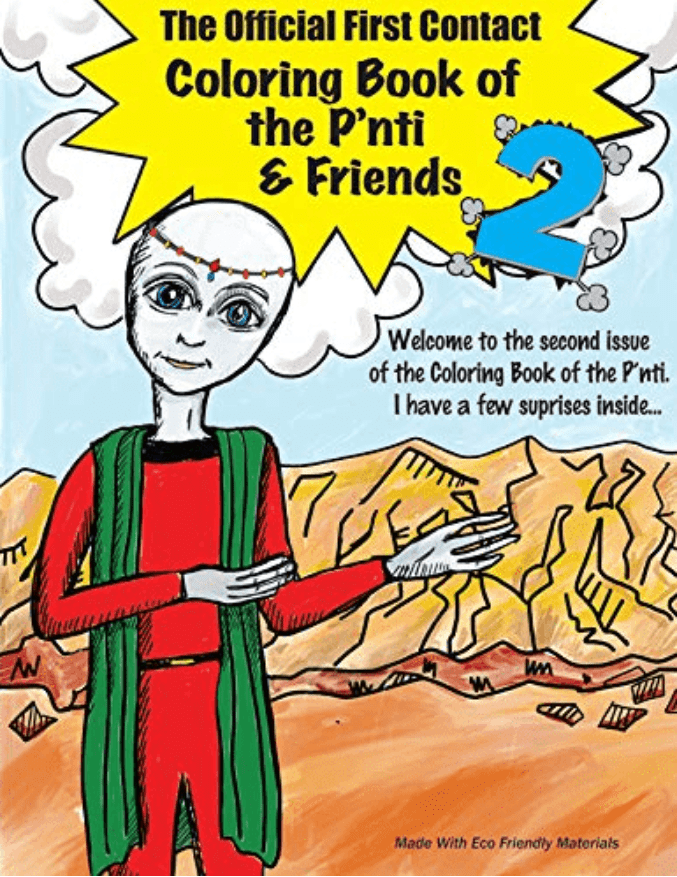 The Official First Contact Coloring Book of the P'nti & Friends 2
