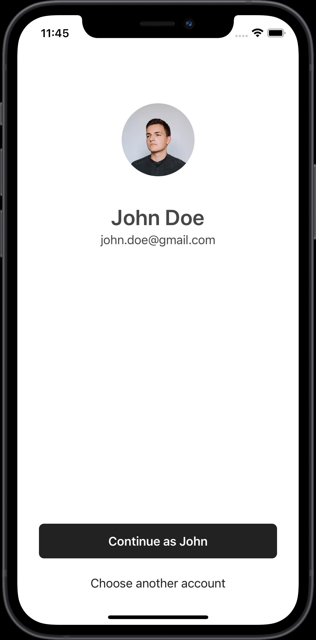 e-commerce authentication screen, design