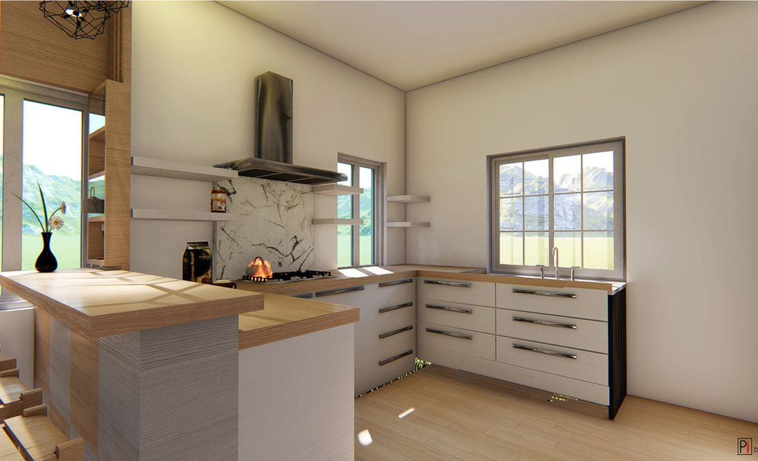 Vitrag Streamside Apartment for sale near Ooty - Kitchen