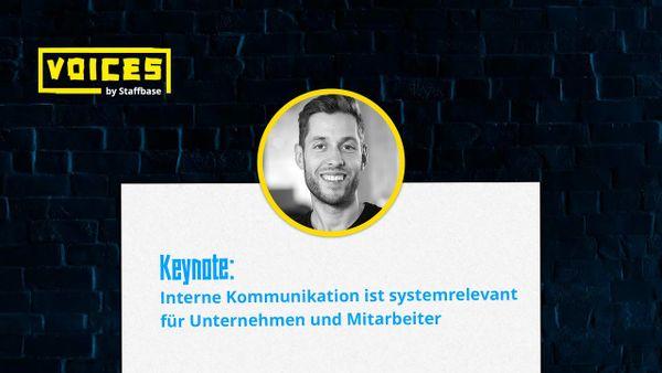 Keynote: Interne Kommunikation ist systemrelevant | Martin Böhringer