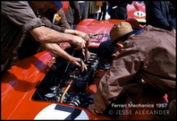 Ferrari mechanics at the Nurburgring, by Jesse Alexander