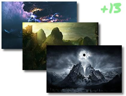 Darkness Fantasy Landscape theme pack