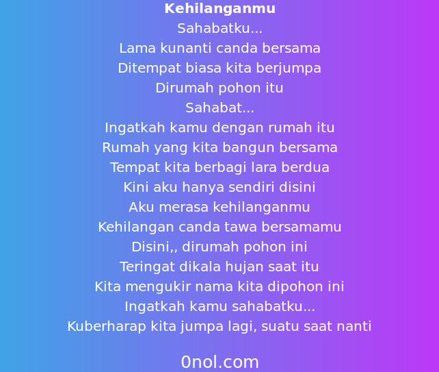 Puisi Sahabat Yang Hilang