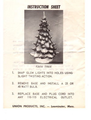 Union Products Tree #2854 Instruction Manual preview