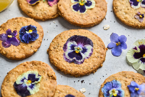 Lemon Earl Grey Shortbread Oatmeal Cookies
