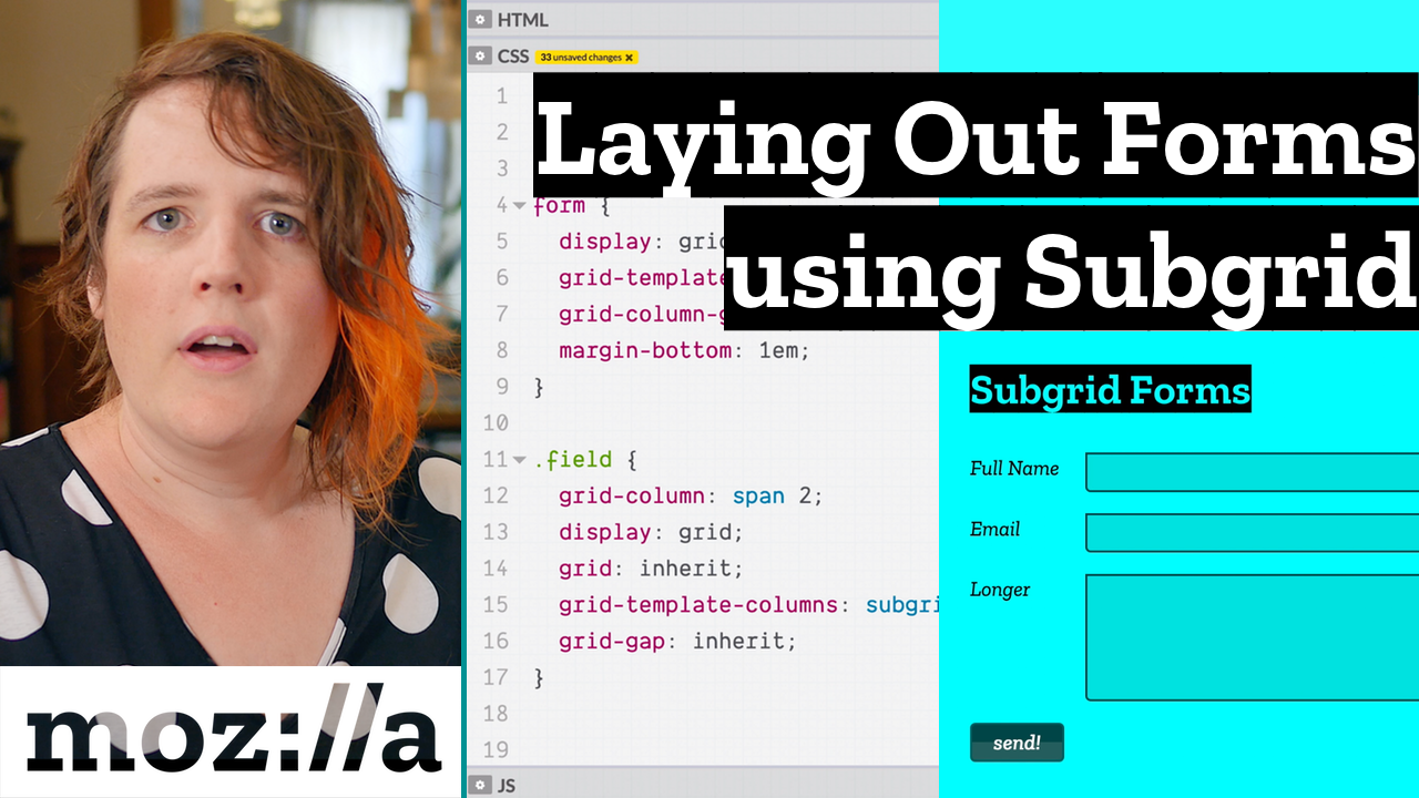 CSS Snippet for CSS subgrid to make forms