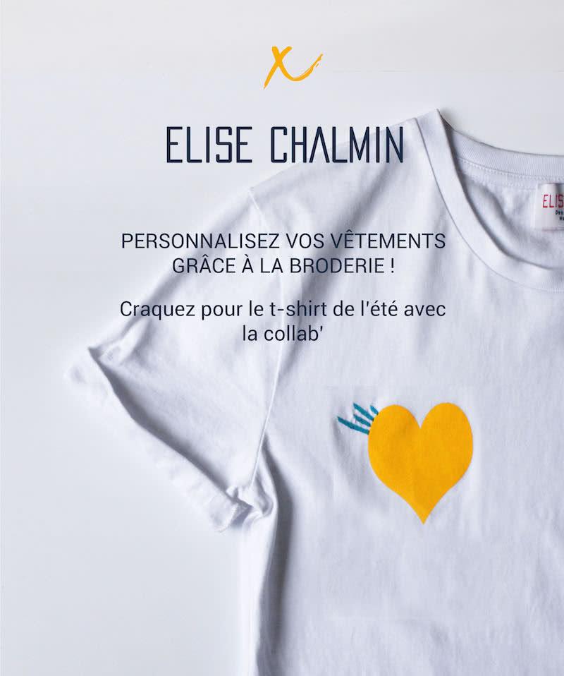 T-shirt brodé avec Elise Chalmin