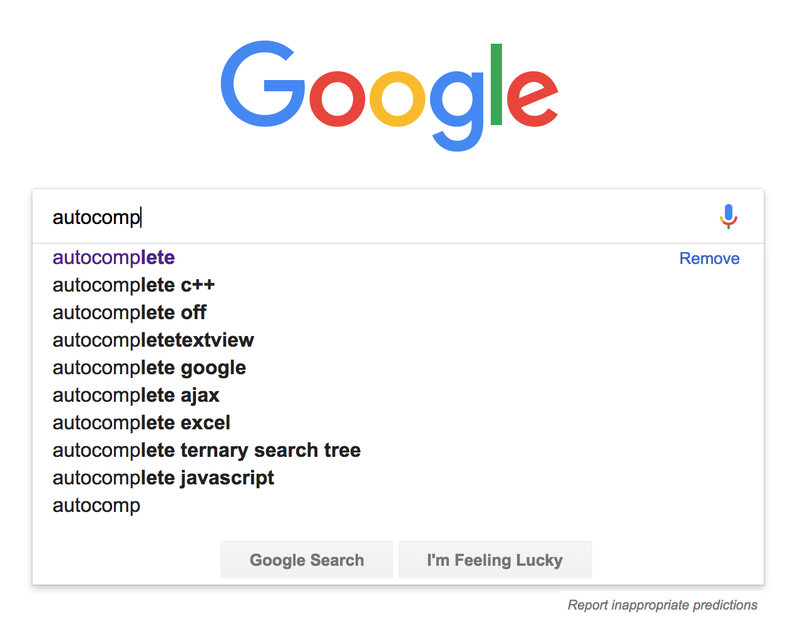 Google example - autocomplete
