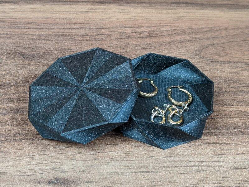 Octo Twist Trinket Box Prusament Galaxy Black