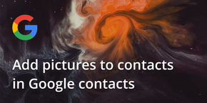 How to add pictures to contacts in Google Contacts
