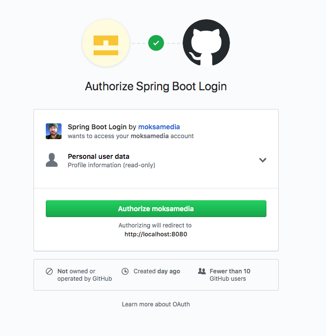 Authorize Login on GitHub
