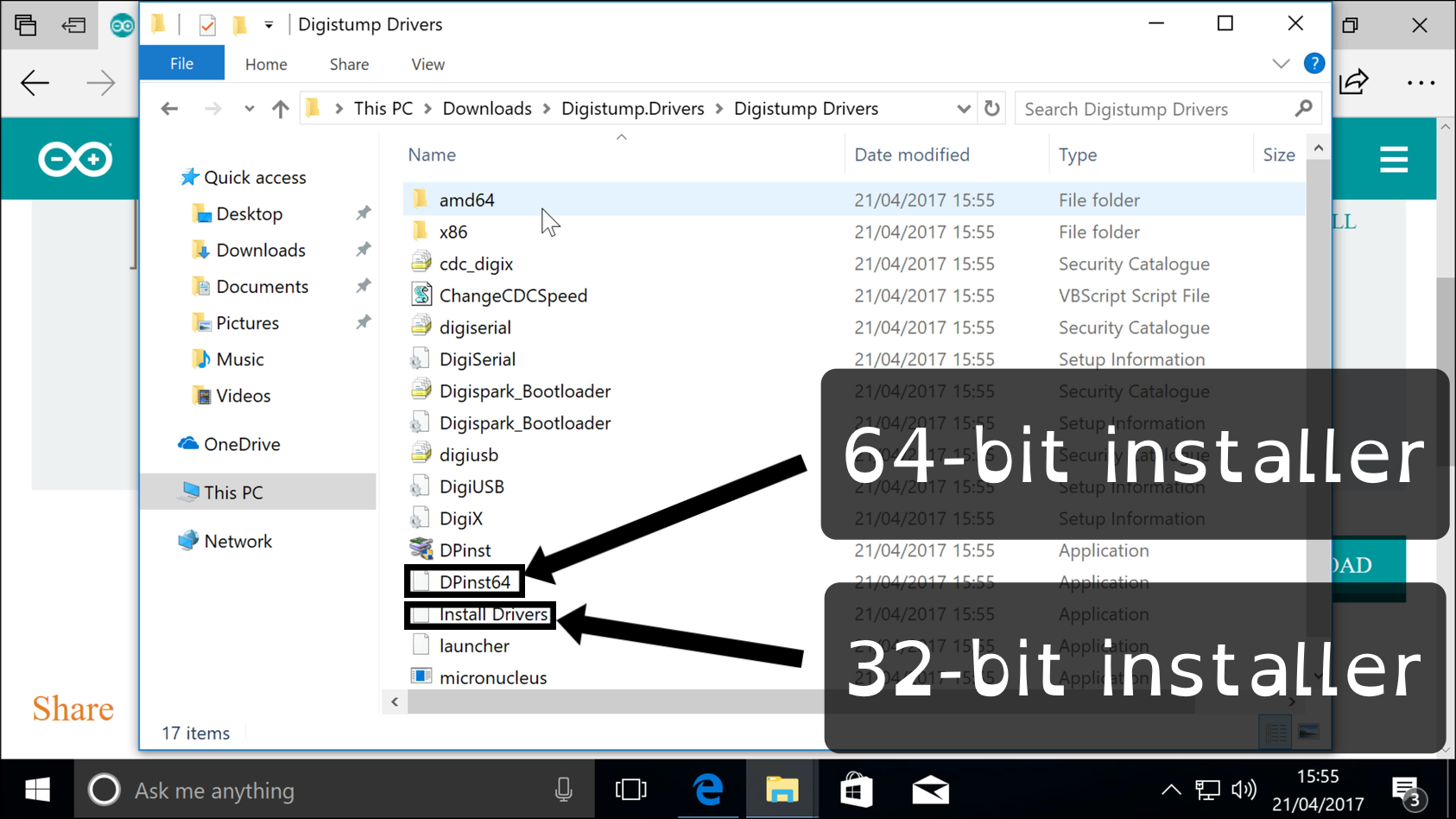 Make sure you install the right drivers for your version of Windows 10