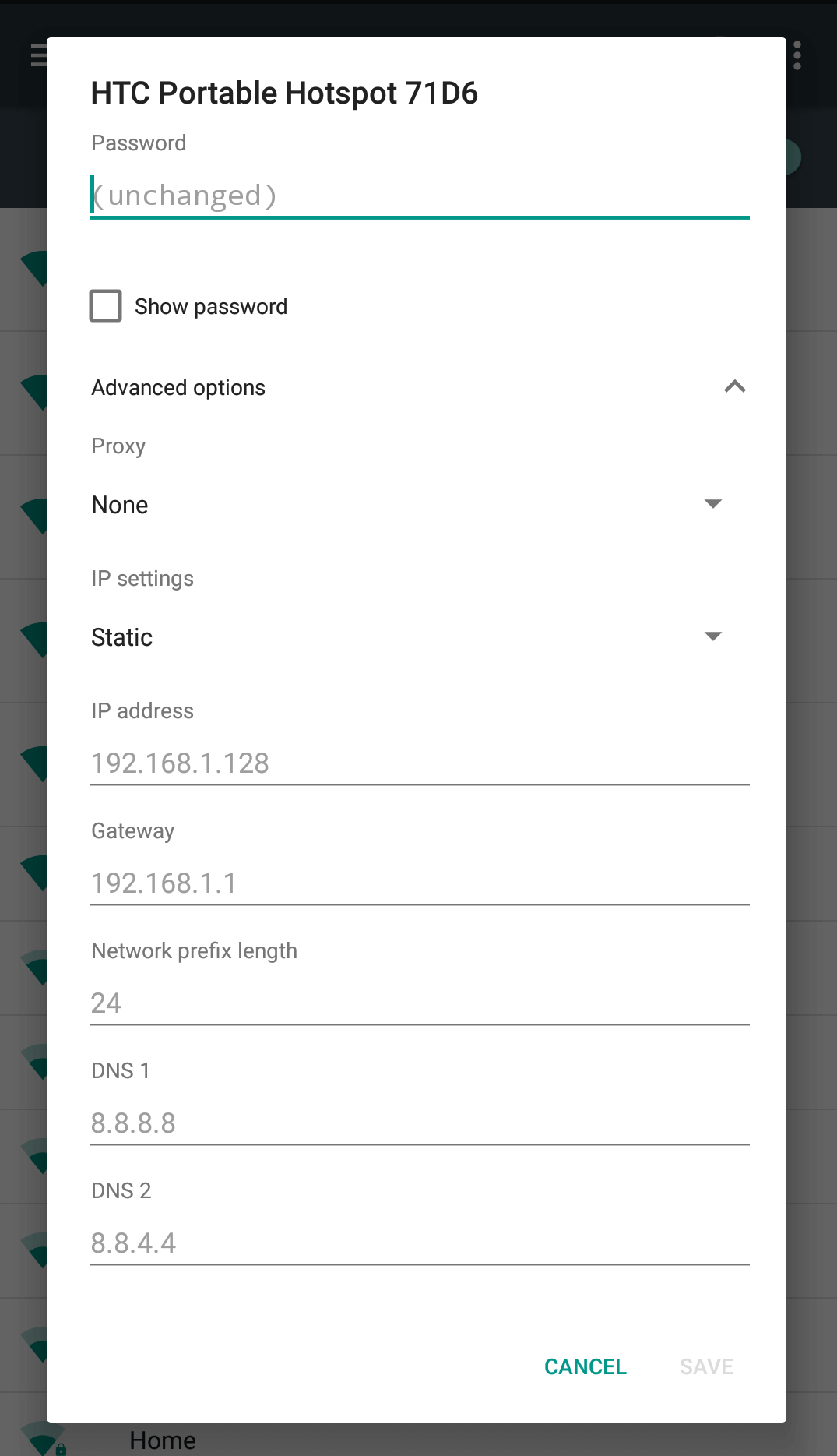 Change Local IP Address Android - Step 5
